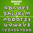 Stock Vector: Football font