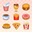 Food icons — Vector de stock #18463779