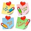 Stock Vector: Love stickers