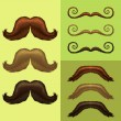 Stock Vector: Mustaches