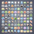 Stock Vector: 100 sticker icons