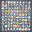 Stock vektor: 100 sticker icons