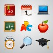 School icons-set — Stock Vector