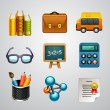 School icons-set — Stockvectorbeeld