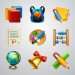 School icons-set — Vettoriali Stock