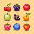 Set of berries — Stock Vector
