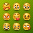 Set of smileys — Stock Vector #18467187
