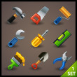 Tools icon set - Stock Vector