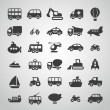 Stock Vector: Transportation icon set