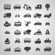 Transportation icon set — Stock Vector #18467621