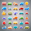 Transportation sticker icons — Stock Vector #18467625