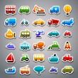 Transportation sticker icons - Stock Vector