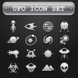 UFO icon set - Stock Vector