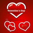 Valentine&amp;#039;s Day Stickers - Stock Vector