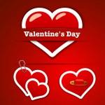 Valentine's Day Stickers — Stockvektor