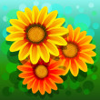 Vector flowers — Vector de stock #18467845