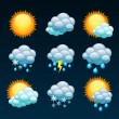 Weather forecast icons — Stock Vector #18468483