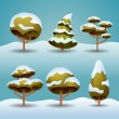 Winter trees — Vector de stock