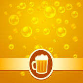 Beer bubbles — Stock Vector