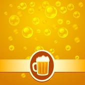Beer bubbles — Stock Vector