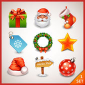 Icon set weihnachten — Stockvektor