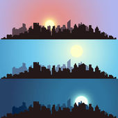 Cityscape backgrounds — Stock Vector