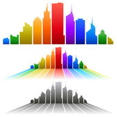 Colorful city — Stock Vector