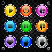 Colorful round buttons — Vecteur