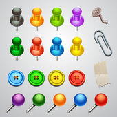 Colorful push pin — Stock Vector