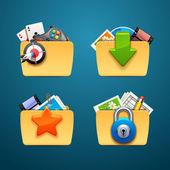 Folders-part — Stock Vector
