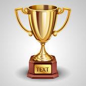 Gold trophy — Stock Vector