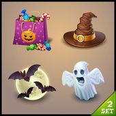 Set di icone di halloween — Vettoriale Stock