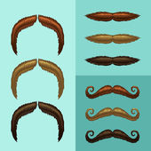 Mustaches — Stock Vector