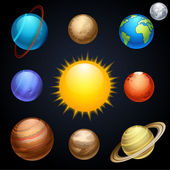 Planets — Stock Vector