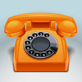 Retro phone icon — Stock Vector