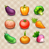 Set of vegetables — Stock Vector