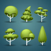 Stylized trees — Stock Vector