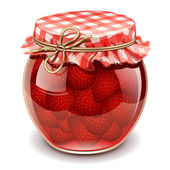 Strawberry jam — Stockvector