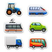 ícones de transporte — Vetorial Stock