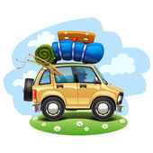 Travel car — Stock Vector