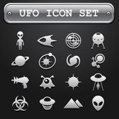 UFO icon set — Stock Vector