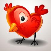 Twitter de san valentín — Vector de stock