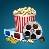 Vector illustration of cinema — Stock Vector