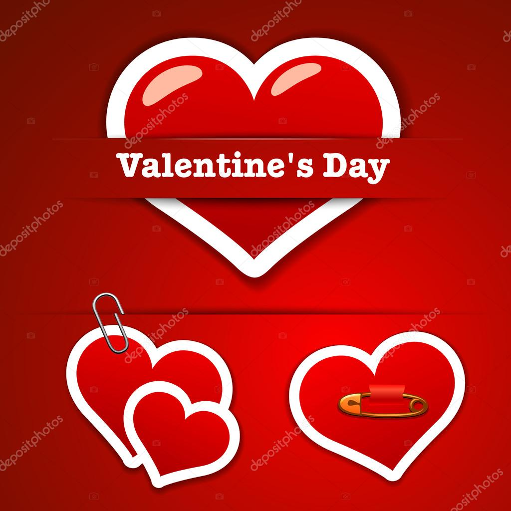 Valentine's Day Stickers — Stock Vector #18467785