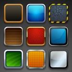 App buttons — Stock Vector #18565045