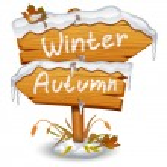 Winter wooden arrow icon — Stock Vector