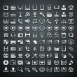 100 vector metalen iconen — Stockvector