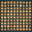 Royalty-Free Stock Vektorfiler: 100 vector orange icons