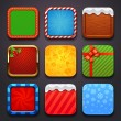 Stock Vector: Background for the app icons-christmas set