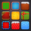 Background for the app icons-christmas set — Stock Vector